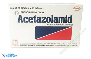 Thuốc Acetazolomid thuộc nhóm dược lý điều trị tai mũi họng