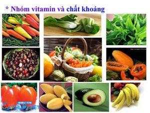 Vitamin khoáng chất có nhiều trong rau củ quả