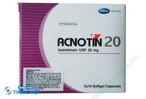 Thuốc Acnotin 20 giúp điều trị mụn trứng cá nặng