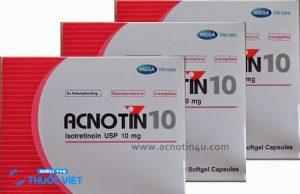 Cần thận trọng khi sử dụng thuốc Acnotin