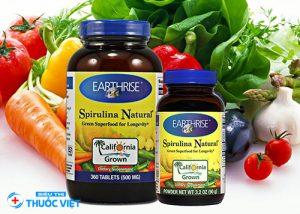 Earthrise spirulina natural powder bổ sung dinh dưỡng cho mọi nhà