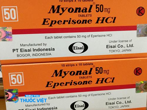 Tìm hiểu về tác dụng của thuốc Myonal khi điều trị bệnh
