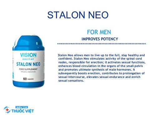 Vision Stalon Neo tăng cường bảo vệ sức khỏe nam giới