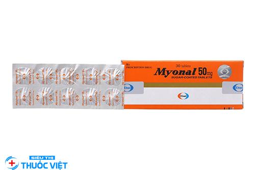 Tác dụng của thuốc myonal 50mg