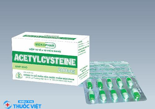 Liều dùng thuốc acetylcysteine cho người lớn là gì?