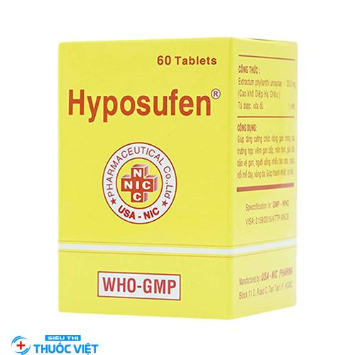 Công dụng và liều lượng của thuốc Hyposulfene