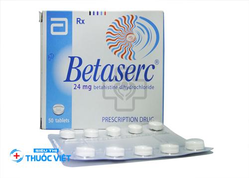 Betaserc được bào chế dưới dạng viên nén và không dùng cho người dưới 18 tuổi
