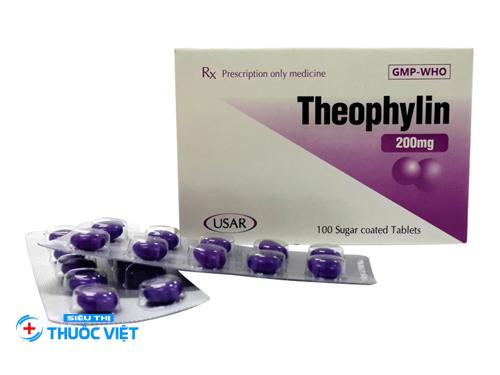 Theophylin được dùng cho những trường hợp ho, viêm phế quản và viêm phổi