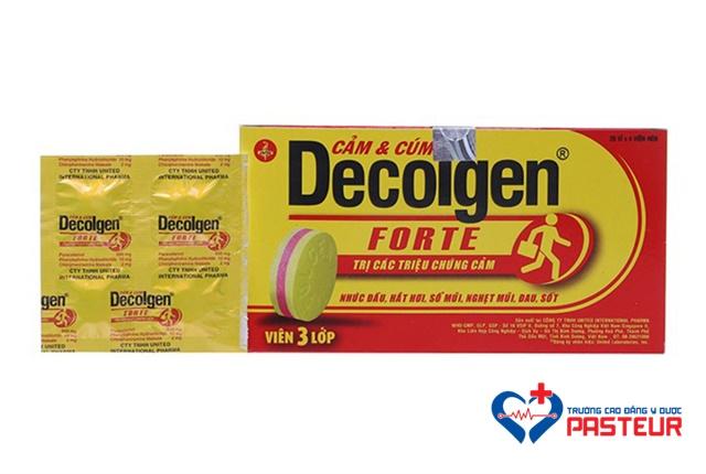 Thành phần và tác dụng của thuốc Decolgen?