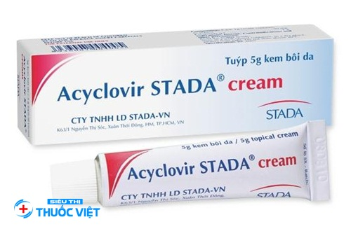 Thuốc da liễu Acyclovir Stada điều trị hiệu quả bệnh nhiễm khuẩn Herpes