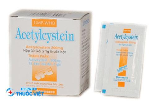 Những điều nhất định phải biết về thuốc hô hấp acetylcysteine