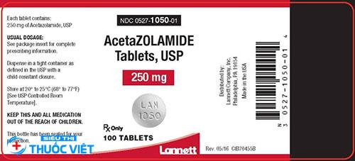 Thuốc Acetazolamid sử dụng rộng rãi trong y học