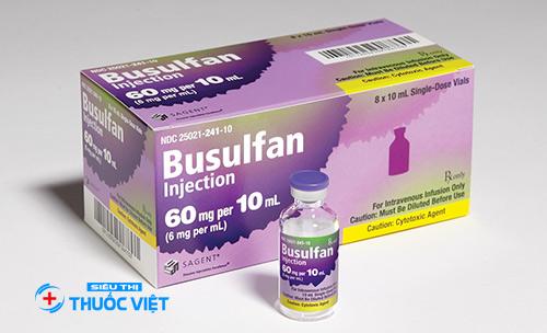 Sử dụng thuốc Busulfan điều trị bệnh bạch cầu tủy xương mãn tính