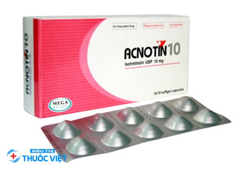 Thuốc Acnotin giúp điều trị mụn tứng cá