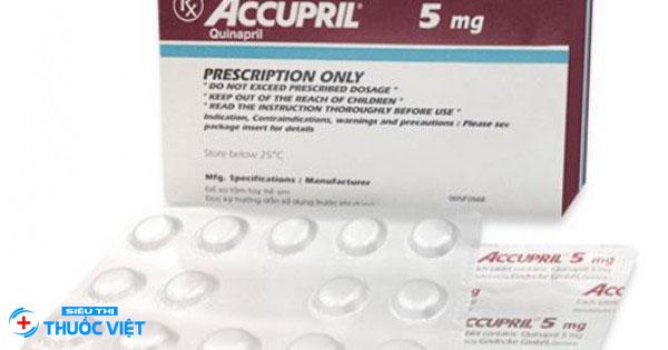 Tư vấn liều dùng thuốc Accupril®