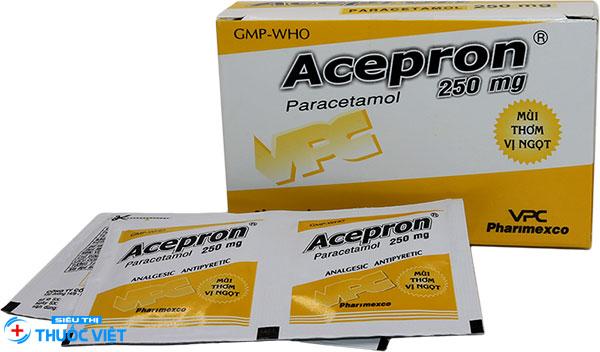 Acepron®: Tác dụng, liều dùng, tương tác thuốc