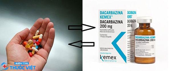 Liều lượng thuốc Dacarbazine định theo tình trạng người bệnh